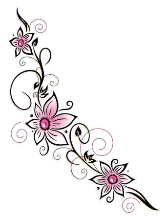 Colorful flower decoration, tribal and tattoo style Stock Vector - 25624394