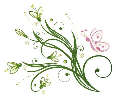 Bunte Frühlingszeit Dekoration, Schneeglöckchen