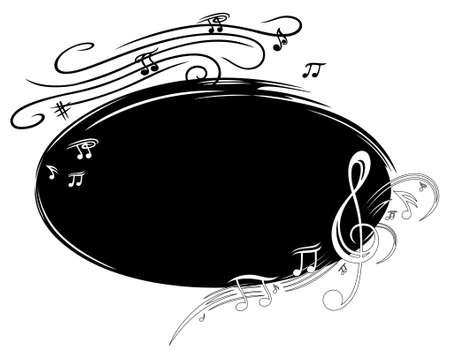 Hintergrund-Musik mit Notenschlüssel und Noten