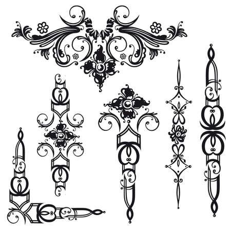 cirrus: Baroque and vintage vector set Illustration