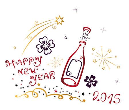 champagne cork: New Years Eve, champagne