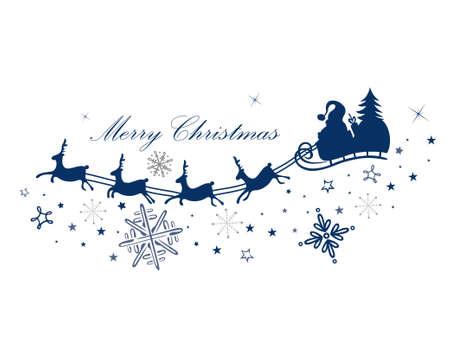 renna: Renna con Babbo Natale e slitta