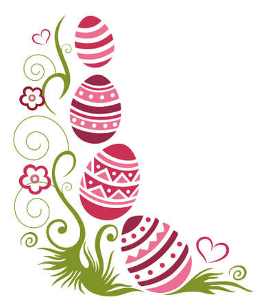 spring time: Happy easter, colorful spring time