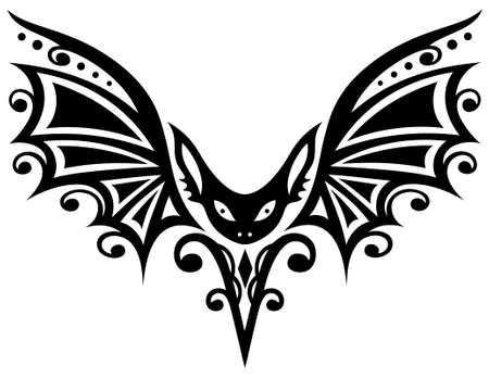 pleaded: Tribal tattoo and pleaded with large wings