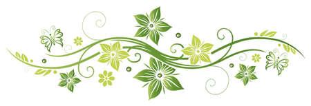 Grün Sommer und Frühling Blumen
