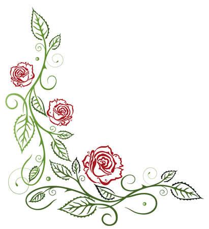 vid: Rosas rojas con hojas de vid de colores