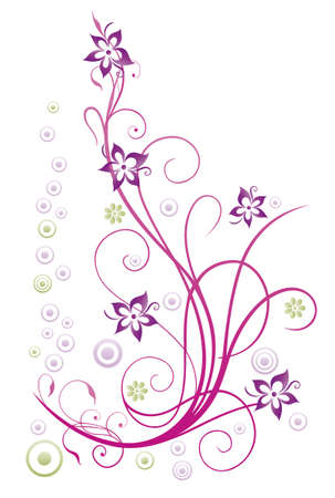 flowers summer: Colorful summer flowers, filigree and floral Illustration