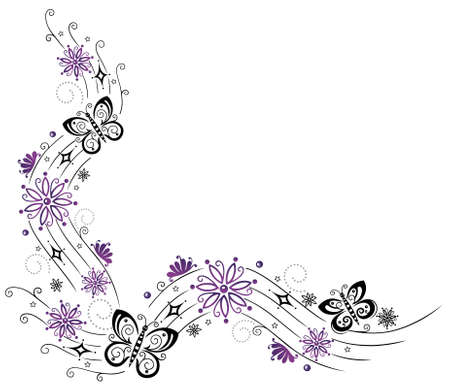 buzzer: Wave with flowers and butterflies