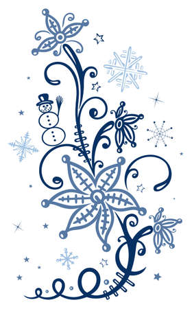 icy: Icy plans with snowman and snowflakes