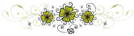 sylvester: Sylvester decoration with clover, shamrocks