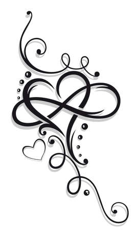 tribal: Heart and infinity, Tattoo for Valentines Day