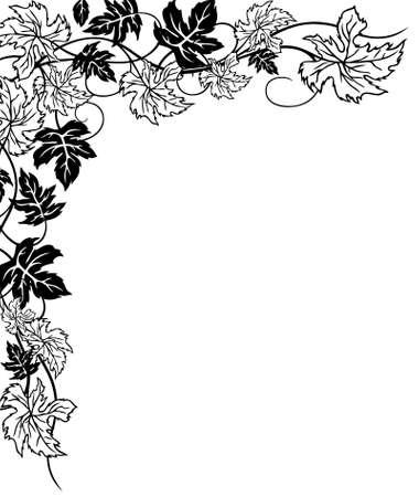 cirrus: leaves, floral autumn decoration