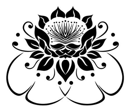 filigree: Filigree Lotus flower, floral rose, waterlily.