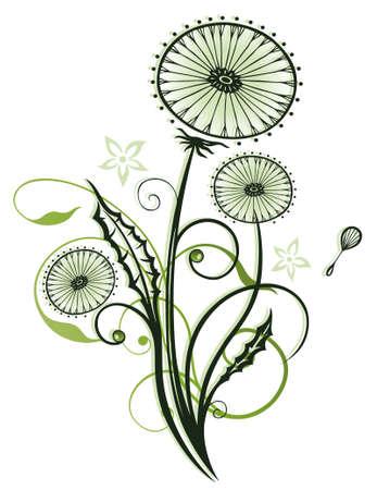 spring time: Spring time flowers, dandelion vector design.