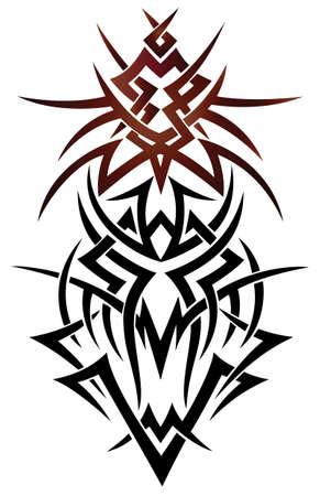 Zusammenfassung Fantasy Drachen, Tribal und Tattoo-Stil.