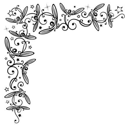 Mistletoe mit Sternen, schöne Weihnachtsdekoration. Illustration