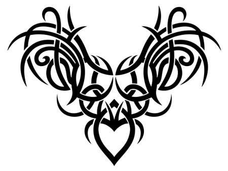 Big Tribal mit Flügeln und Herzen.