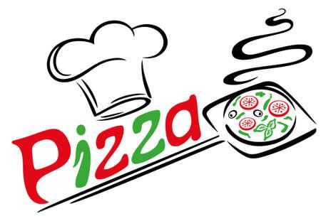 Pizza-Bäcker mit Kochen und Pizza