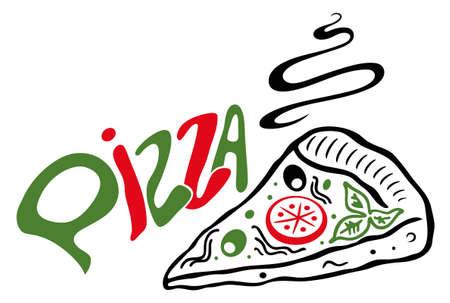 Große Scheibe Pizza, Vektor-Design-Element.