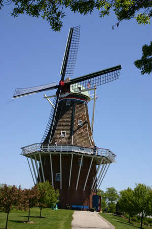 Windmill in the spring