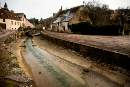 Old village in burgundy
