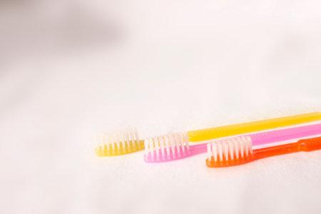 colorful dental brush on white background