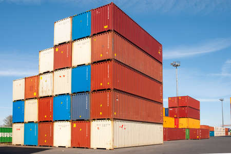 colorful container in a harbor