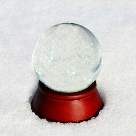 Empty Snow Globe with Copyspace Stock Photo