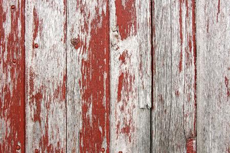 소박한, 세 헛간 보드, 빨간색 페인트 껍질의 배경
