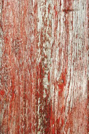 barnwood: Un fondo de tablas barnwood r�stico, envejecido, con la pintura roja