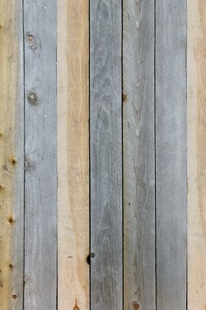 madera rústica: Un fondo de las tablas de tablones de madera rústica con texturas que se anudan y degradado gris marrón y moreno.