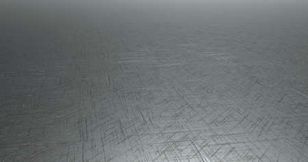 3d render of grey, scratched metallic, industrail surface illustration Stock Photo