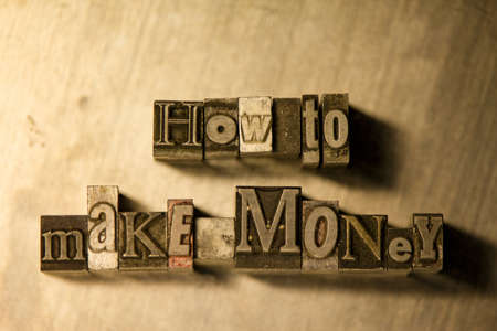 how to: Metal How to make money text on wooden background