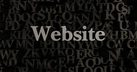 Website - 3D rendered metallic typeset headline illustration.  Can be used for an online banner ad or a print postcard.