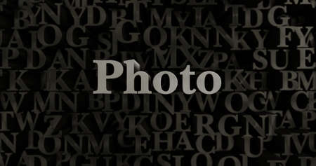 Photo - 3D rendered metallic typeset headline illustration.  Can be used for an online banner ad or a print postcard.