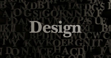 Design - 3D rendered metallic typeset headline illustration.  Can be used for an online banner ad or a print postcard.
