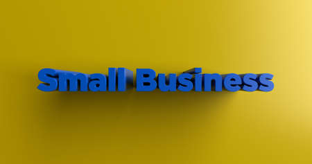 Small Business - 3D rendered colorful headline illustration.  Can be used for an online banner ad or a print postcard. Stock Photo