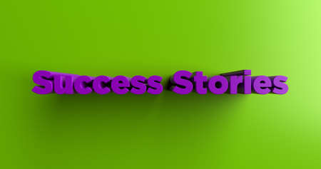 headline: Success Stories - 3D rendered colorful headline illustration.  Can be used for an online banner ad or a print postcard.