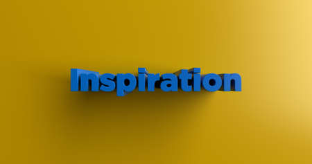 Inspiration - 3D rendered colorful headline illustration.  Can be used for an online banner ad or a print postcard.