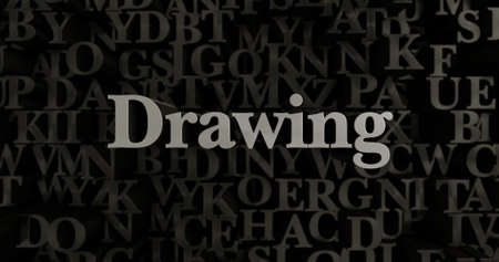 Drawing - 3D rendered metallic typeset headline illustration.  Can be used for an online banner ad or a print postcard.