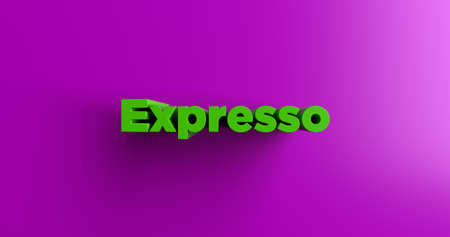 expresso: Expresso - 3D rendered colorful headline illustration.  Can be used for an online banner ad or a print postcard.