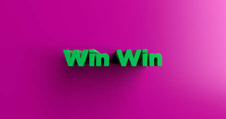 headline: Win Win - 3D rendered colorful headline illustration.  Can be used for an online banner ad or a print postcard. Stock Photo