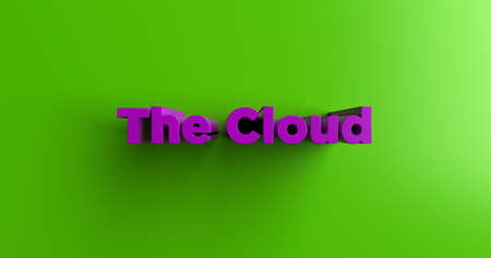 The Cloud - 3D rendered colorful headline illustration.  Can be used for an online banner ad or a print postcard. Stock Photo