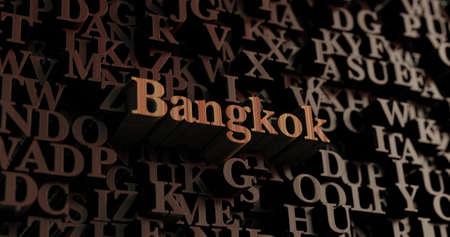 バンコク - 木製 3 D 文字/メッセージを表示されます。 オンラインのバナー広告や印刷のはがきに使用できます。 写真素材 - 65138465