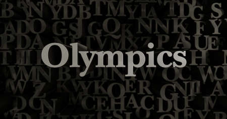 olympics: Olympics - 3D rendered metallic typeset headline illustration.  Can be used for an online banner ad or a print postcard. Editorial