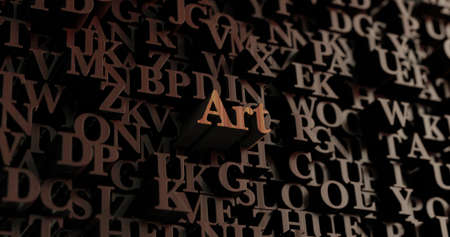 Art - Wooden 3D rendered lettersmessage.  Can be used for an online banner ad or a print postcard.