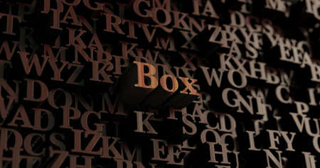 Box - Wooden 3D rendered lettersmessage.  Can be used for an online banner ad or a print postcard.
