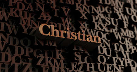Christian - Wooden 3D rendered lettersmessage.  Can be used for an online banner ad or a print postcard.