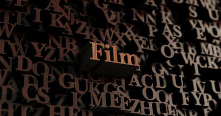 Film - Wooden 3D rendered lettersmessage.  Can be used for an online banner ad or a print postcard.