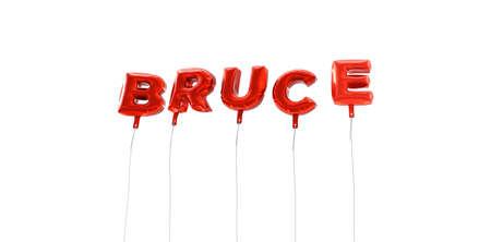 ブルースは-赤箔バルーン - 3 D レンダリングから作られた言葉。 オンラインのバナー広告や印刷のはがきに使用できます。
